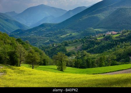 spring in the Valnerina near Meggiano, Umbria, Italy - Stock Image