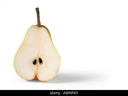 Pear half, close-up - Stock Image