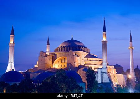 Turkey Istanbul view of the Hagia Sophia Mosque - Stock Image