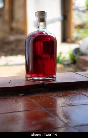 bouteille de vin rouge fait maison - Image