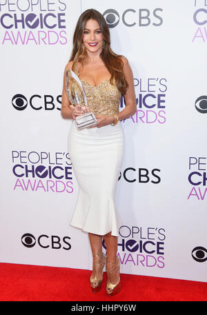 Sofia Vergara 213 arriving at the People's Choice Awards 2017 at the Microsoft Theatre in Los Angeles. January - Stock Image