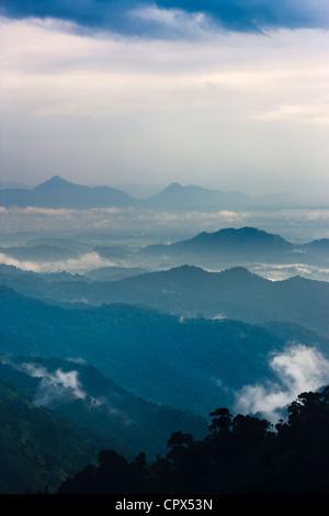 the Ella Gap at dusk, southern hill country, Sri Lanka - Stock Image