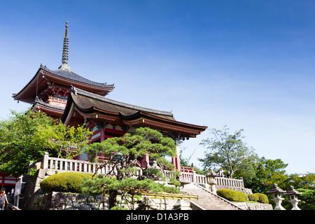 KYOTO, JAPAN Traditional architecture, Kiyomizu-dera temple. - Stock Image