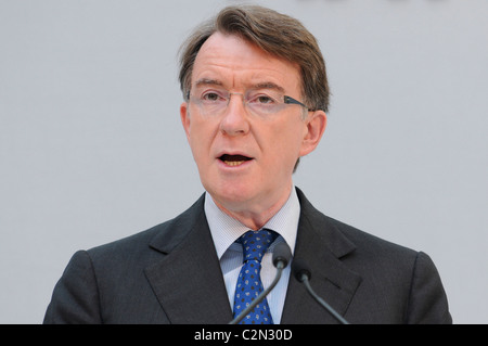 Lord Peter Mandelson attends a conference outlining London's economic reputation at the Royal Opera House, London, - Stock Image