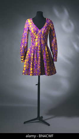 Dress, by Biba. England, 1967 - Stock Image