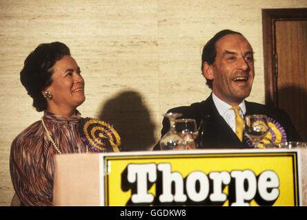 Jeremy Thorpe MP and wife Marion Thorpe portrait 1979 Devon 1970s UK HOMER SYKES - Stock Image
