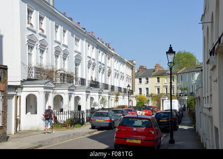 Chalcot Crescent, Primrose Hill, London Borough of Camden, London, England, United Kingdom - Stock Image