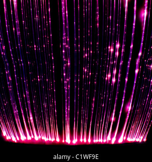 This photograph taken in a light sensory room designed to relax and entertain children and adults with learning - Stock Image