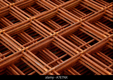 Stack of Steel Reinforcement Elements - Stock Image