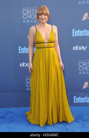 Santa Monica, California, USA. 11th Dec, 2016. Bryce Dallas Howard. The 22nd Annual Critics' Choice Awards held - Stock Image