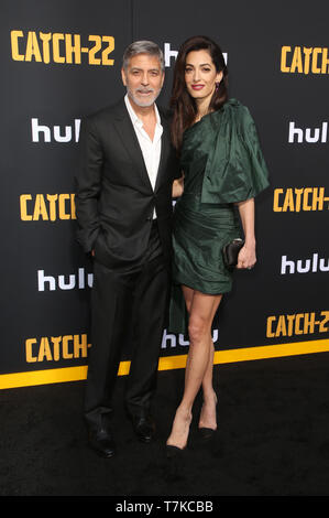 Hollywood, California, USA. 07th May, 2019. Amal Clooney, George Clooney, attends the premiere of Hulu's 'Catch-22' on May 07, 2019 in Hollywood, California. Credit: Faye Sadou/Media Punch/Alamy Live News - Stock Image
