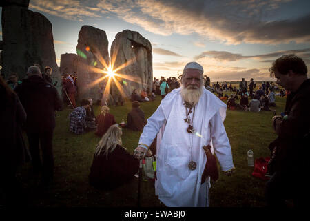 Avebury, UK. 21st June, 2015. Summer Solstice at Stonehenge Credit:  Guy Corbishley/Alamy Live News - Stock Image
