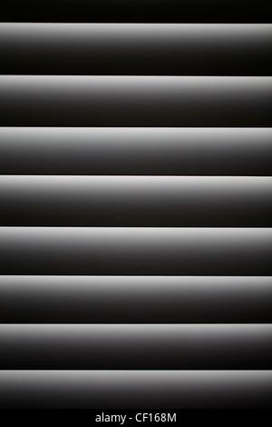 CLOSED VENETIAN WINDOW BLIND - Stock Image