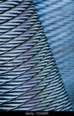 Close-up of steel wire - Stock Image