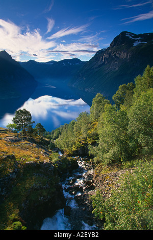 Gerainger Fjord Norway - Stock Image