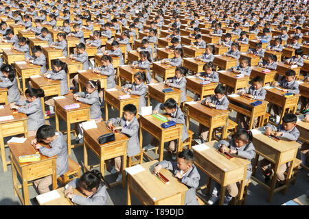Lianyungang, China. 12th May, 2019. Lianyungang, CHINA-Pupils practice mental abacus at Donghai County Primary School in Lianyungang, east China�s Jiangsu Province. Credit: SIPA Asia/ZUMA Wire/Alamy Live News - Stock Image