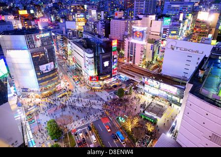 Cityscape of Shibuya, Tokyo, Japan. - Stock Image