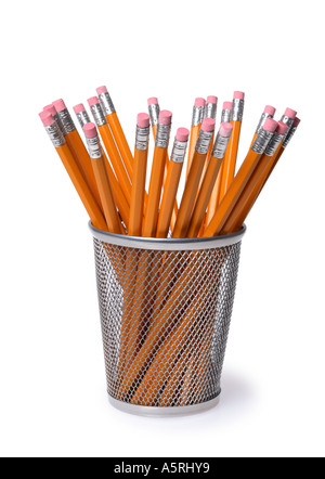 Pencil holder - Stock Image