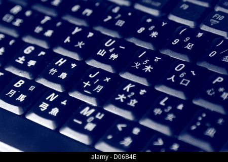 Keyboards with lights - Stock Image