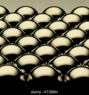 Metallic balls - Stock Image