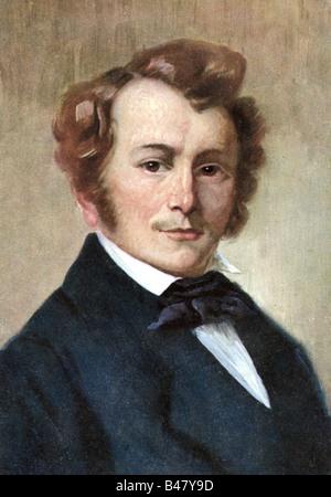 Lortzing, Albert, 23.10.1801 - 21.01.1851, German composer, portrait, painting by Robert Einhorn, circa 1910, Additional - Stock Image