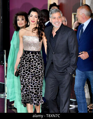 London, UK. 15th May, 2019. Amal Clooney, George Clooney attend Catch 22 TV premiere & photocall at Vue Westfield Credit: Nils Jorgensen/Alamy Live News - Stock Image