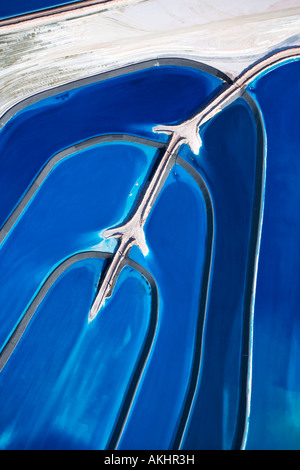 Aerial view of tailing ponds in Utah USA - Stock Image