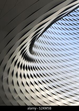 Abstract view of the Messeplatz Exhibition Centre at Baselworld, Basel - Stock Image