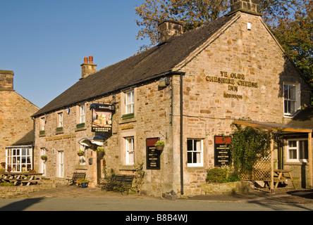 Ye Olde Cheshire Cheese Inn Public House, village de Longnor, Parc National de Peak District, Derbyshire, Angleterre - Image