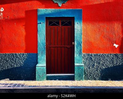 Facade , San Miguel de Allende - Stock Image