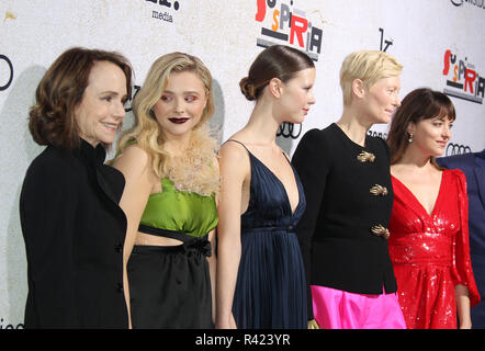¡°Suspiria¡± Los Angeles Premiere held at The Arclight Hollywood Cinema Dome in Los Angeles, California.  Featuring: Jessica Harper, Chloe Grace Moretz, Mia Goth, Tilda Swinton, Dakota Johnson Where: Los Angeles, California, United States When: 24 Oct 2018 Credit: Adriana M. Barraza/WENN.com - Stock Image