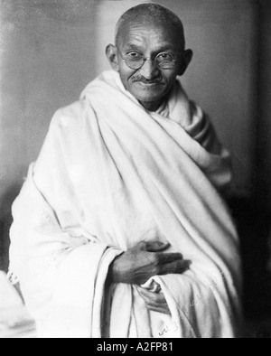 Mahatma Gandhi rare studio photograph taken in London England UK at the request of Lord Irwin 1931 - Stock Image