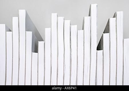 Notepads arranged liked a graph - Stock Image