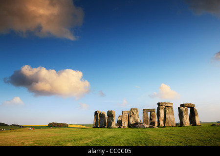 Stonehenge, Wiltshire, England, on a beautiful summer evening. - Stock Image
