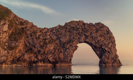 Durdle Door at Sunset - Stock Image