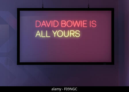 V&A David Bowie Is exhibition at ACMI, Melbourne, Australia - Stock Image