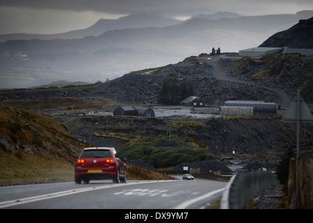 Slate quarry, Blaenau Ffestiniog, Snowdonia, Gwynedd, North Wales UK. - Stock Image