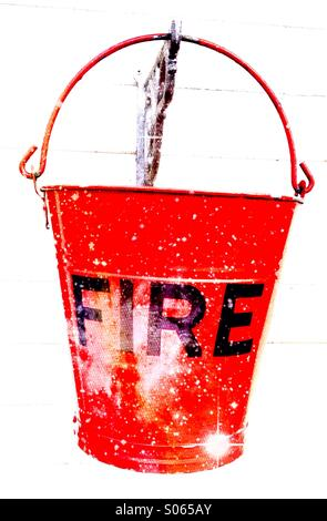 Close up of a fire bucket - Stock Image
