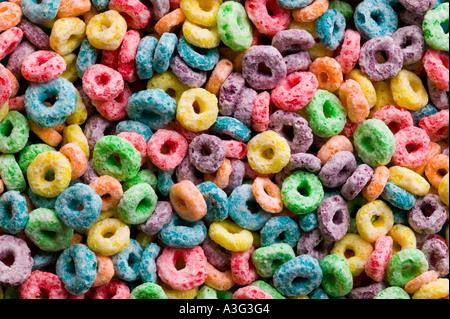 Colorfull Breakfast Cerial - Stock Image