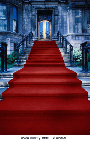 Red carpet - Stock Image