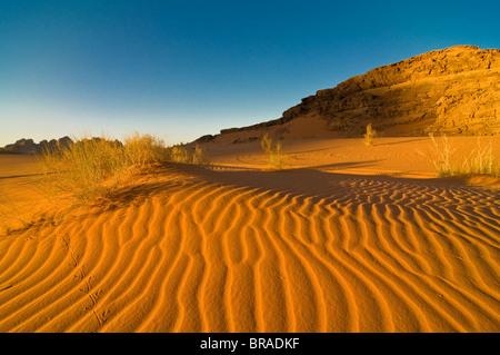 The stunning desert scenery of Wadi Rum, Jordan, Middle East - Stock Image