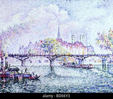 fine arts, Signac, Paul, (1863 - 1935), painting, 'Paris, Ile de la Cite', 1912, oil on canvas, Museum Folkwang, - Stock Image