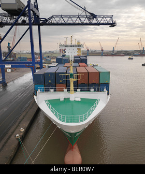 Container Ship At Port - Stock Image