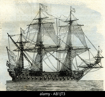 Ship Le Soleil Royal United Kingdom - Stock Image