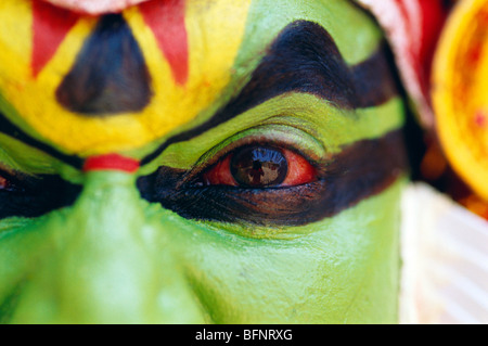 RSC 60564 : Kathakali dancer ; Kerala ; India MR#306 - Stock Image