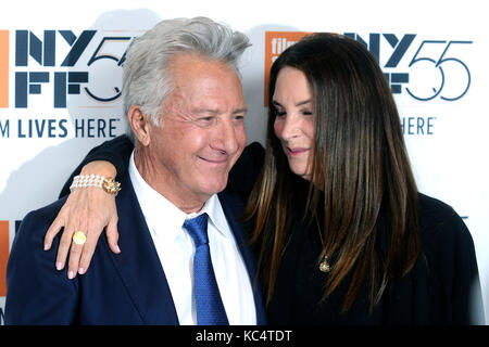 Dustin Hoffman and his wife Lisa attend 'The Meyerowitz Stories' premiere during the 55th New York Film - Stock Image