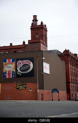 Ancienne brasserie de briques rouges cains bristerie liverpool - Image