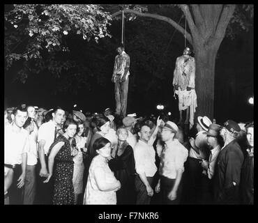 The lynching of African Americans, Thomas Shipp and Abram Smith, Marion, Indiana, 1930 - Stock Image