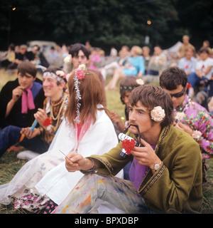 Hippy in London, 1967 - Stock Image