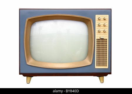 television apparatus from 1950 - Stock Image